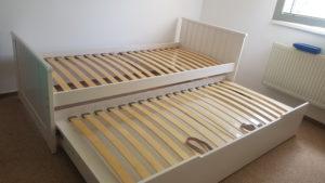 montáž rozkládací postele
